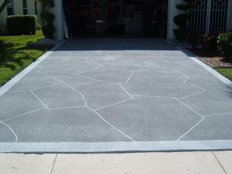 CRACKS INCORPORATED INTO PATTERN ON DRIVE